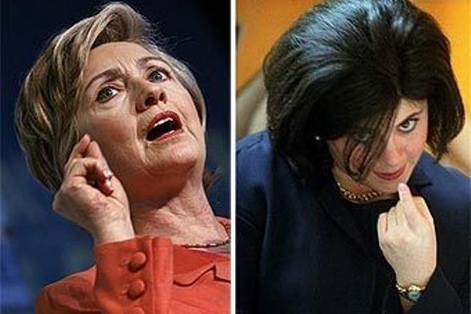 """Hillary Clinton a descris-o pe Monica Lewinsky: """"o persoană narcisistă prostuţă"""""""
